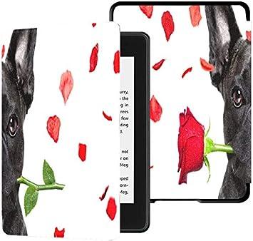 Kindle Paperwhite Estuche Mujer Bulldog Francés Loco y Tonto Enamorado de Vale Estuches Kindle Estuche Paperwhite Estuche automático con Despertador/Reposo Estuches Kindle Paperwhite 10th Generatio: Amazon.es: Electrónica