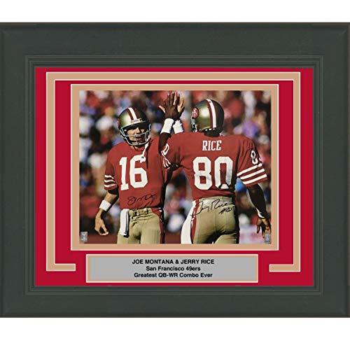 8b4cfceb4 Framed Autographed/Signed Joe Montana & Jerry Rice San Francisco 49ers  16x20 Football Photo GTSM COA