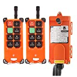 NEWTRY 12V Wireless Crane Remote Control Double Transmitters Industrial Channel Hoist Crane Transmitter Receiver