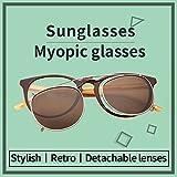 Jardin damour Designer Womens Mens Wayfarer Optical Frames with Polarized Sunglasses Clips JS5105 Brown