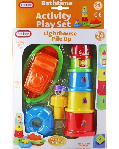 Bath Lighthouses (Funtime Lighthouse Pile Up Fun Bathtime Set Learn As They Play 8 Pieces)