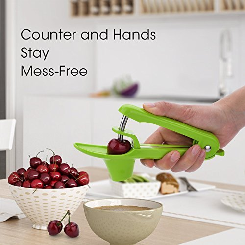 ([--SALE--] Cherry/Olive Pitter Tool, Cherry/Olive Pit Remover/Corer (Green))