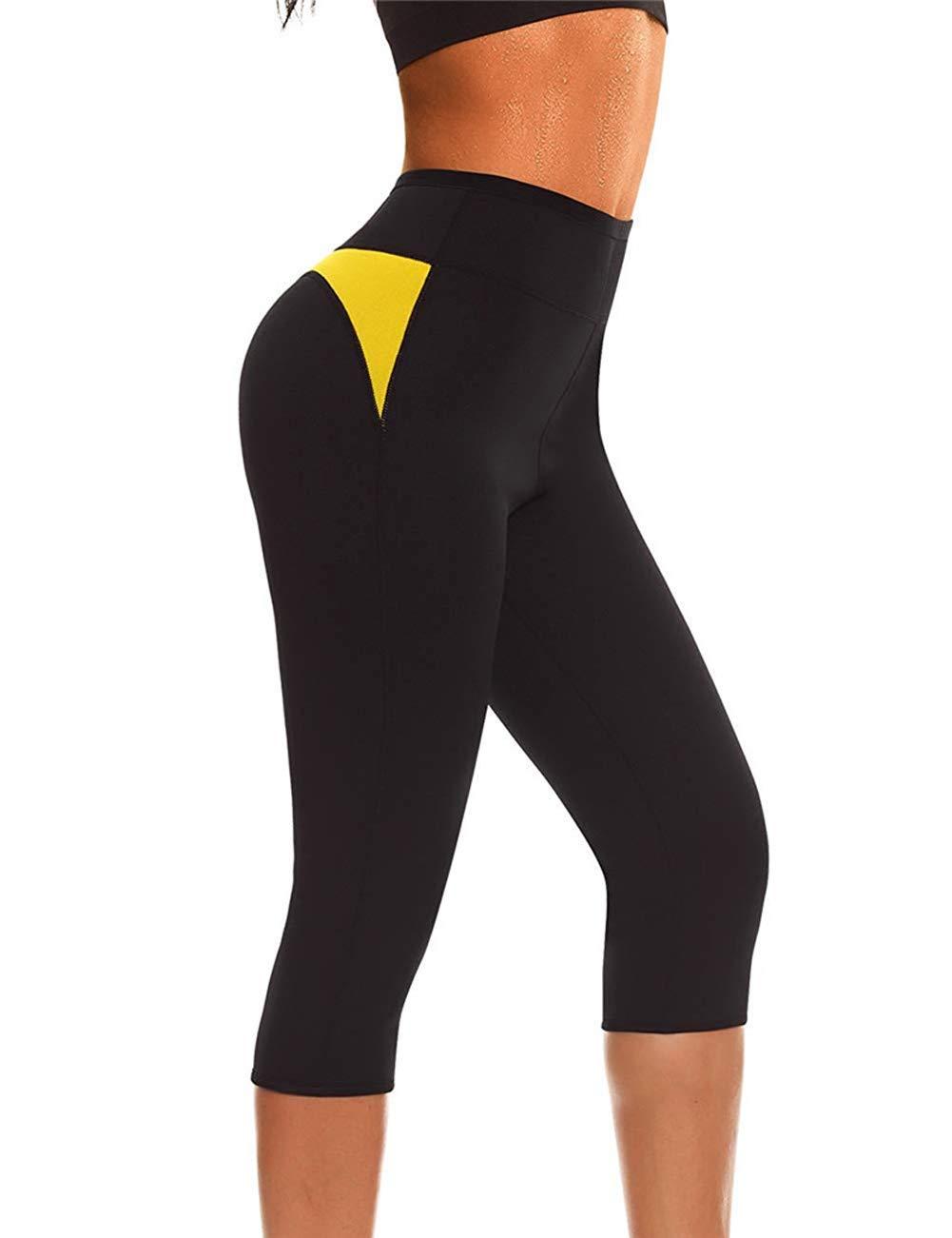 QIGAOZU Pantalones Calientes Vientre Control Bragas Adelgazante Corto Neopreno Sudor Cuerpo Shaper Entrenamiento Cintura Entrenador Butt Levantador Medias Capris