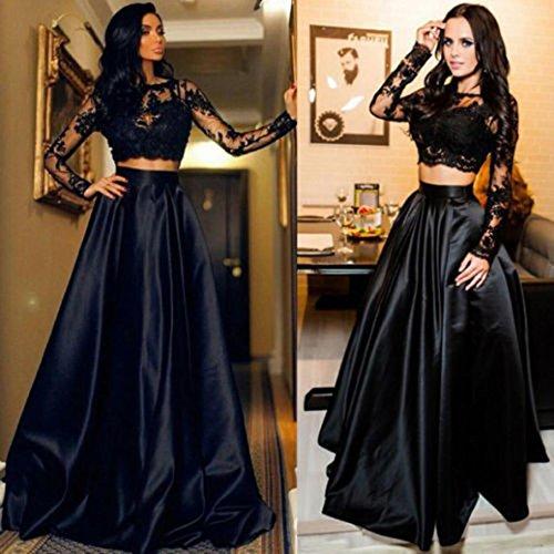 Casual Odejoy dress Accogliente Sexy Lungo Maxi matrimonio Dance Vestito Pizzo set Moda Gonna Cocktail Donne Sottile Estate Abiti Party Nero Abito AwxPwqY7r