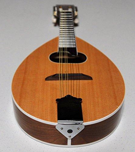 Mandola tear-drop style 31'' Length, Natural wood finish by Harmonia