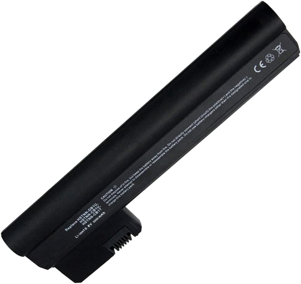 10.8V 5200mAh Li-ion Battery for HP Mini 110-3000 Series, HP Mini 110-3100 Series,(Fits Selected Models only),Compatible Part Numbers: 607762-001, 607763-001, HSTNN-DB1U, WQ001AA, 06TY,