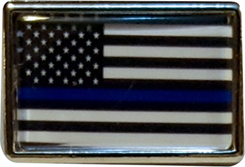 Thin Blue Line Lapel Pin (Packs of 1,3,5,12 and 25) (1 (Police Hat Pin)
