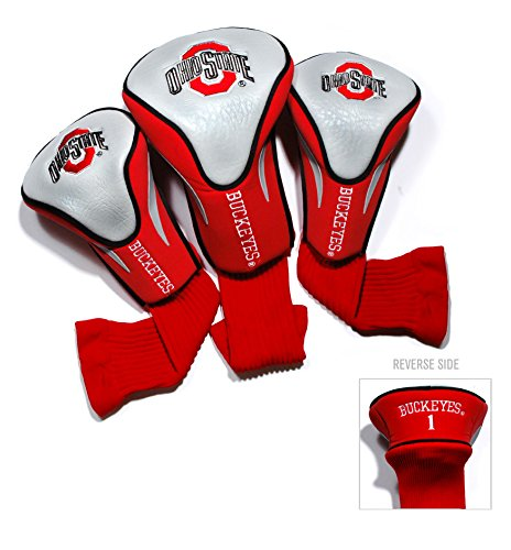 Ohio State University Contour Sock Headcovers (3 - 3 Sock Headcovers Pack