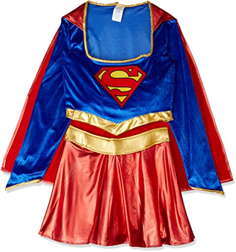Revealing Halloween Costumes For Girls (Secret Wishes DC Comics Women's Deluxe Supergirl Costume, Blue/Red, Medium)
