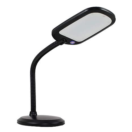 MiniSun - Moderna lámpara LED de mesa Kiwi - Con función de luz regulable, cuello flexible, luz blanca fría - Ahorro energético
