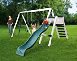Congo Swing'N Monkey 3 Position - White and Green Low Maintenance Swing Set