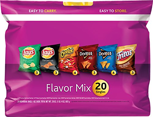 20 Count Frito Lay Variety Sack, Flavor Mix, 20 oz