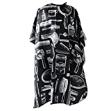 Hairdressing Hair Cut Barber Cape Cloth Wrap - Black