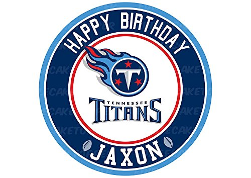 EdibleInkArt Tennessee Titans Edible Cake Topper Personalized Birthday 6