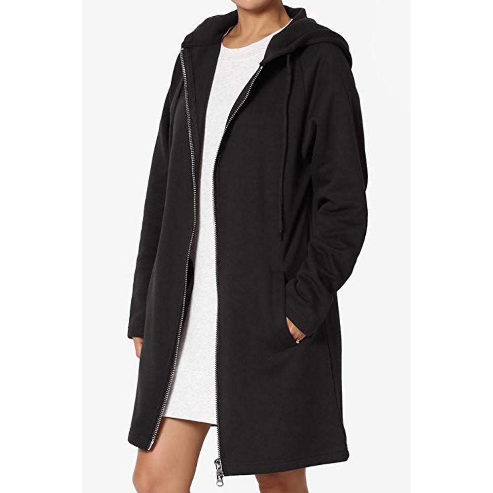 ZEFOTIM Fashion Women Loose Fit Pocket Hoodie Long Sleeve Sweatshirts Coat Slim Coat