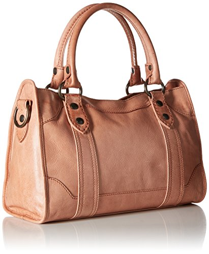 FRYE Melissa Zip Satchel Leather Handbag, dusty rose by FRYE (Image #2)