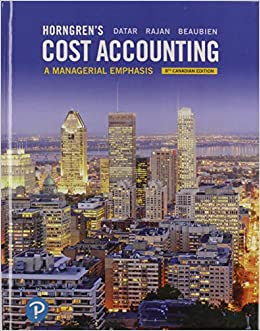 Cost Accounting A Managerial Emphasis 2nd Edition Pdf