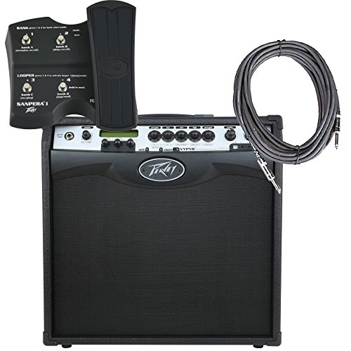Peavey V.I.P. Amplifier 3 + 2 10-Foot Cables + Expression Pedal