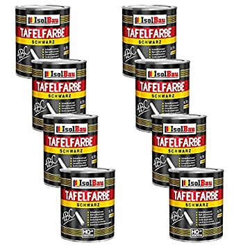 Schwar - Pintura para pizarra, 8 x 750 ml, color mate: Amazon ...