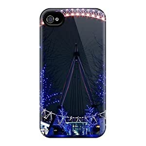4/4s Scratch-proof Protection Case Cover For Iphone/ Hot Night City Light Phone Case