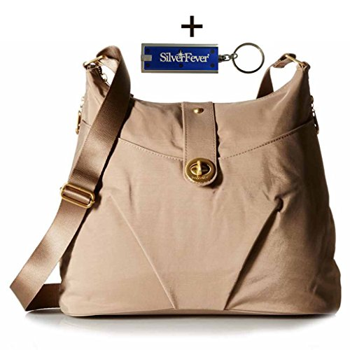 Baggallini Helsinki Slim Light Sholder Hobo Bag Crossbody (Beach) by Baggallini