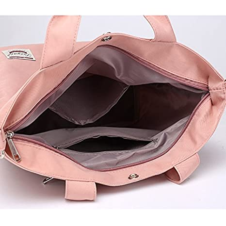 EasyHui Nylon Lightweight Handbags Travel Messenger Bag Large-Capacity Shoulder Bag for Women