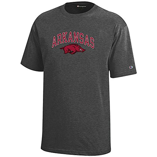 Arkansas Razorbacks Arch - Elite Fan Shop Arkansas Razorbacks Kids Tshirt Arch Charcoal - M