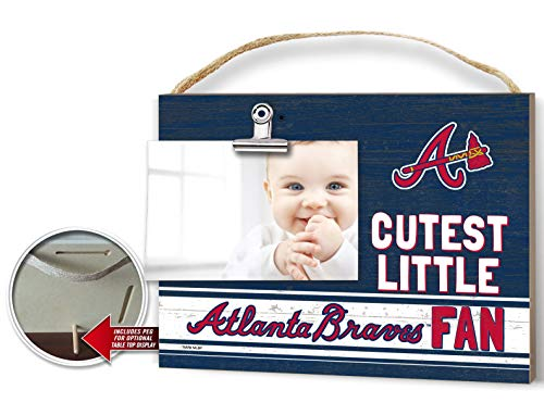 KH Sports Fan Clip It Colored Baby Logo Photo Frame Atlanta Braves