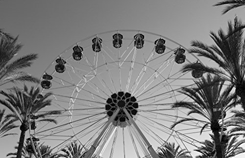 18 x 24 B&W Photo of Ferris wheel at Irvine Spectrum Center, a shopping center located in Orange County, California 2012 Highsmith - Irvine Center Spectrum