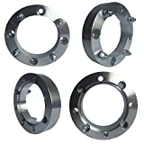 4x156 Wheel Spacers (1.5 inch) 38.1mm (131mm bore, 3/8''-24 Studs & Nuts) 4 Lug wheelspacer for Kawasaki, Polaris, Yamaha, Ranger, Predator, Sportsman, RZR 570 800 XP900, ATV, UTV (Silver) (4 pieces)