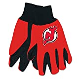 NHL New Jersey Devils Two-Tone Gloves, Red/Black