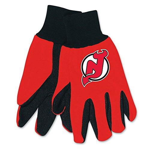 NHL New Jersey Devils Two-Tone Gloves, - Jersey Garden Nj