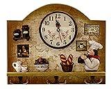Kitchen Decor Theme Ideas Heartful Home Fat Italian Chef Kitchen Decor Clock with Hooks - Unique Idea for a Wedding or Housewarming Present