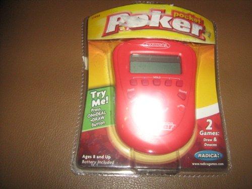 2006 Mattel, Inc. Radica Pocket Poker Draw Poker & Deuces Wild LCD Handheld #17008 by Mattel