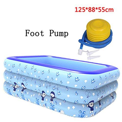 Familia de baño inflable piscina inflable espesa el aislamiento piscina del bebé del baño de plástico plegable Baño barril Océano Ball Pool Piscina para niños Zona de juegos de agua