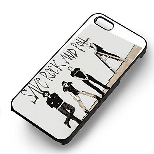 Save Rock et Roll pour Coque Iphone 6 et Coque Iphone 6s Case (Noir Boîtier en plastique dur) T7L2GB