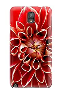 New Style Case Cover Protector For Galaxy Note 3 Red Dahlia Case 9545488K19593178