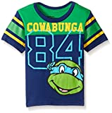 T-Shirtnage Mutant Ninja Turtles Little Boys' Toddler Short Sleeve Raglan T-Shirt, Navy, 3T