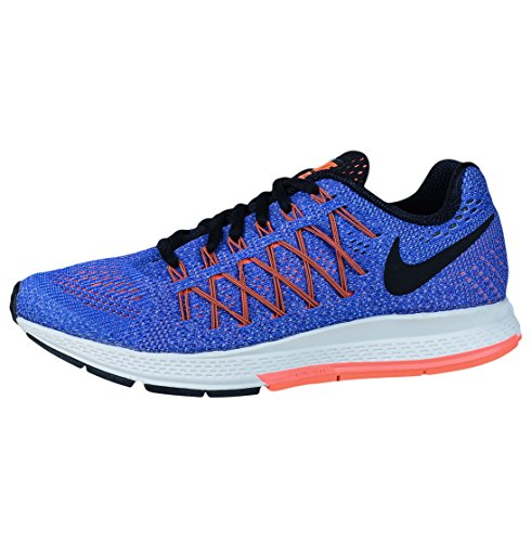 Nike Women's WMNS Air Zoom Pegasus 32 Running Shoes, Berry Blue (Rcr Bl / Black-hyper Orange-bright Mango)