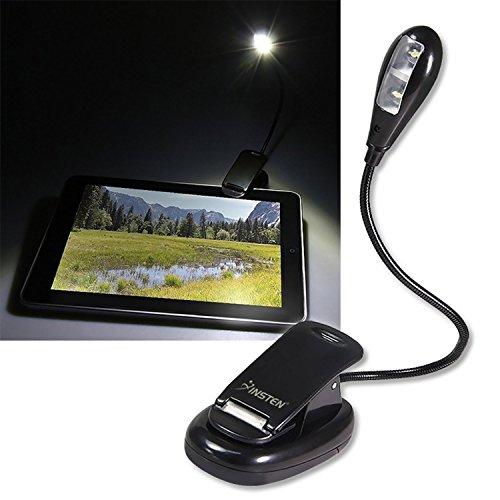 Insten FLEXIBLE BOOK READING LED CLIP ON BRIGHT LIGHT LAMP