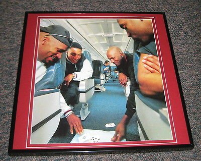 Michael Jordan & Scottie Pippen Playing Cards on Plane Framed 12X12 Poster Photo