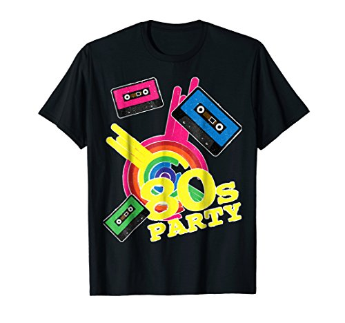 80s Party T-Shirt with Cassettes Design