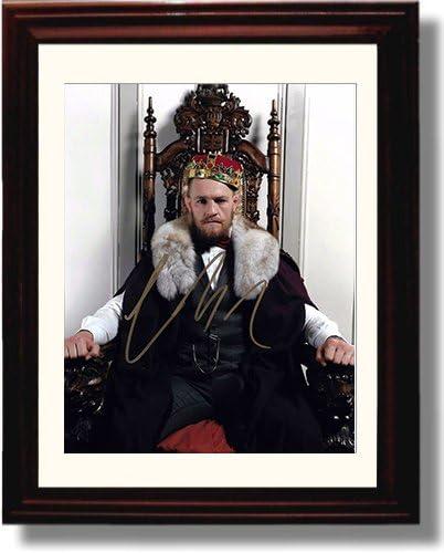 Framed Conor McGregorサイン1レプリカ印刷–On the Throne