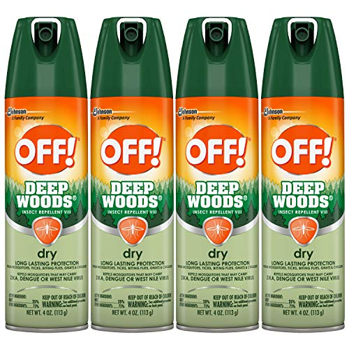 - OFF! Deep Woods Insect Repellent VIII Dry, 4 oz, 4 ct