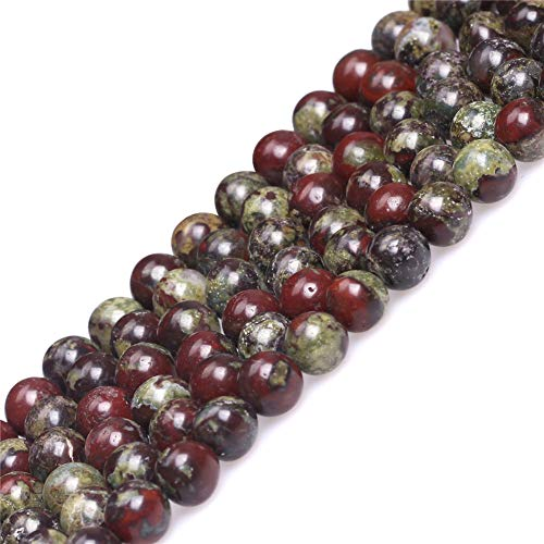 Australia Blood Jade Beads for Jewelry Making Natural Gemstone Semi Precious 6mm Round Green Red 15