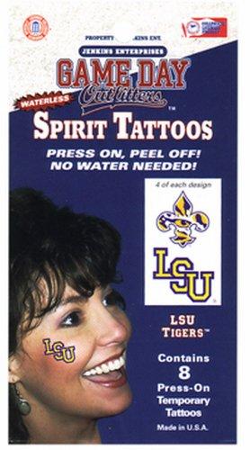 LSU Tigers Tattoo Waterless