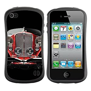 Hybrid Anti-Shock Bumper Case for Apple iPhone 4 4S / Oldschool Classic Car