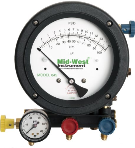Mid-West 845-5 5-Valve Backflow Test Kit, 18-1/2'' Length x 9'' Width x 9-3/4'' Height by Mid-West Instrument