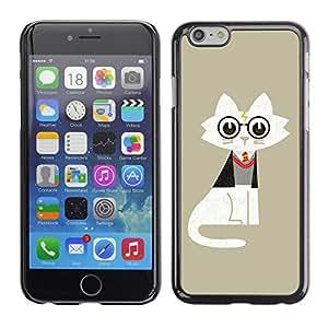 CaseCaptain Carcasa Funda Case - Apple Iphone 6 PLUS 5.5 / Funny Wizard Potter Cat /