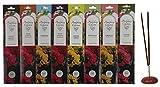 Cottage Industries (Unit Of Sri Aurobindo Ashram,Pondicherry) Combo Of 8 Fragrances - Tuberose, Vettiver, Paradise, Patchouli, Lemon Grass, Night Jasmine, Forest Breeze, Sweet Sandal